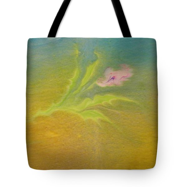 Tote Bag featuring the painting Desert Flower by Mike Breau