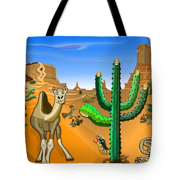 Desert Hands Tote Bag