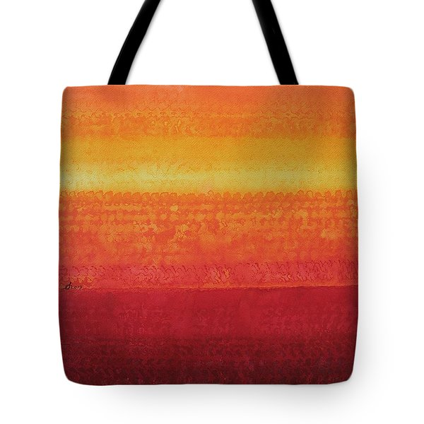 Desert Horizon Original Painting Tote Bag