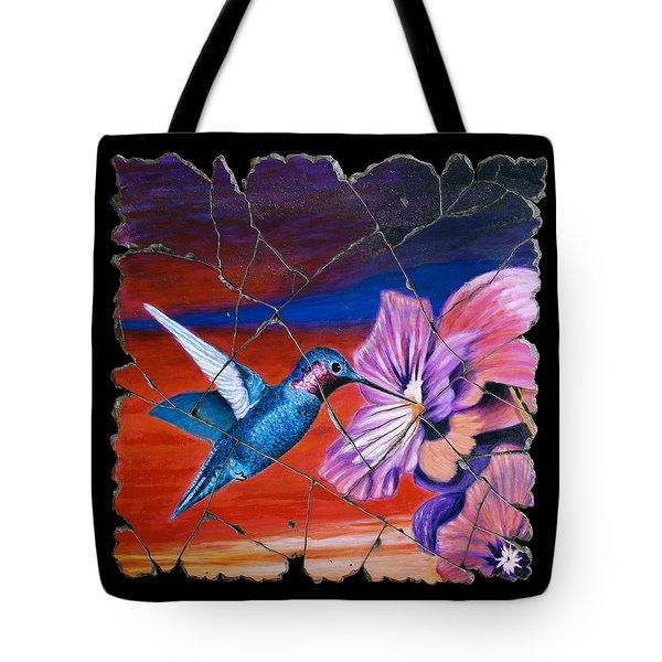 Desert Hummingbird Tote Bag by Steve Bogdanoff