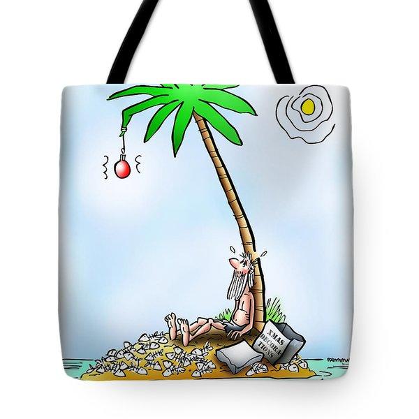 Desert Island Christmas Tote Bag