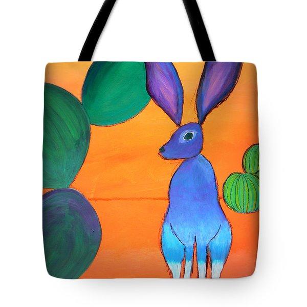 Desert Jackrabbit Tote Bag by Karyn Robinson