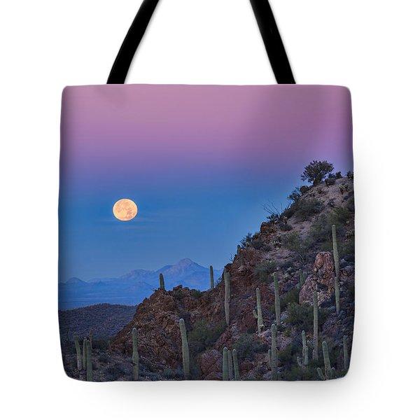Desert Moonset Tote Bag