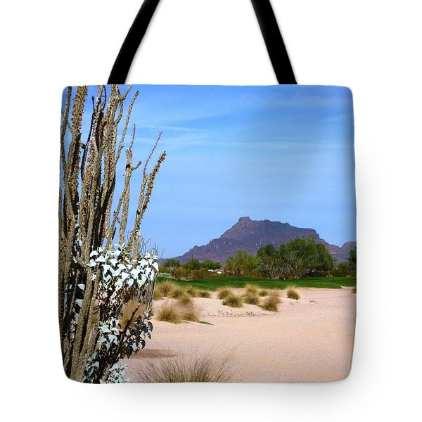 Desert Mountain Tote Bag by Mike Ste Marie