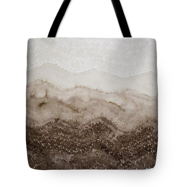 Desert Mountain Mist Original Painting Tote Bag
