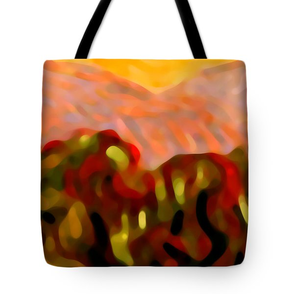 Desert Olive Trees Tote Bag by Amy Vangsgard