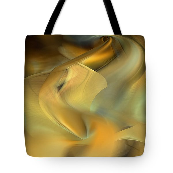 Desert Palm In Sandstorm Tote Bag