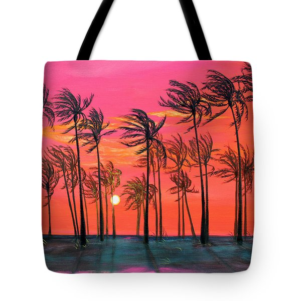 Desert Palm Trees At Sunset Tote Bag