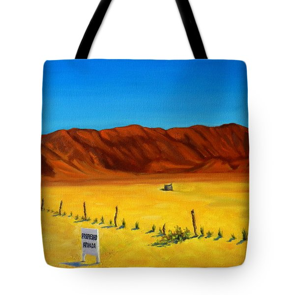 Desert Privacy Tote Bag