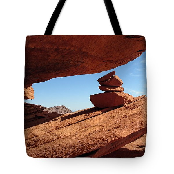 Tote Bag featuring the photograph Desert Signpost by Alan Socolik