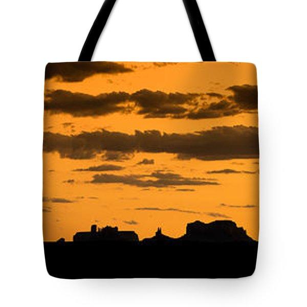 Desert Sky Panorama Tote Bag