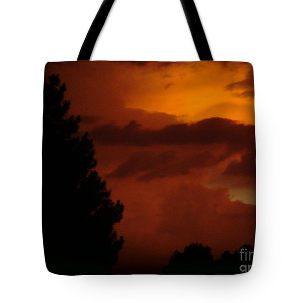 Tote Bag featuring the photograph Desert Storm by Carla Carson