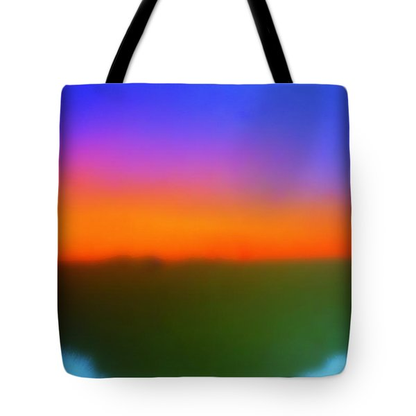 Desert Sun Abstract Tote Bag