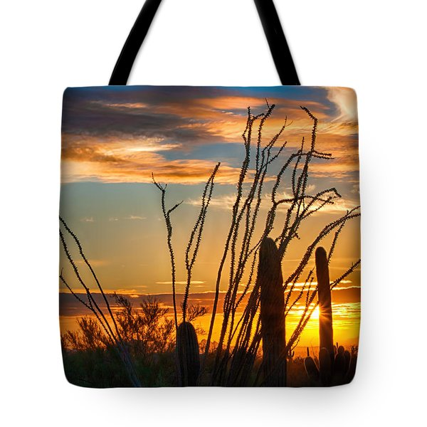 Desert Sunset Tote Bag