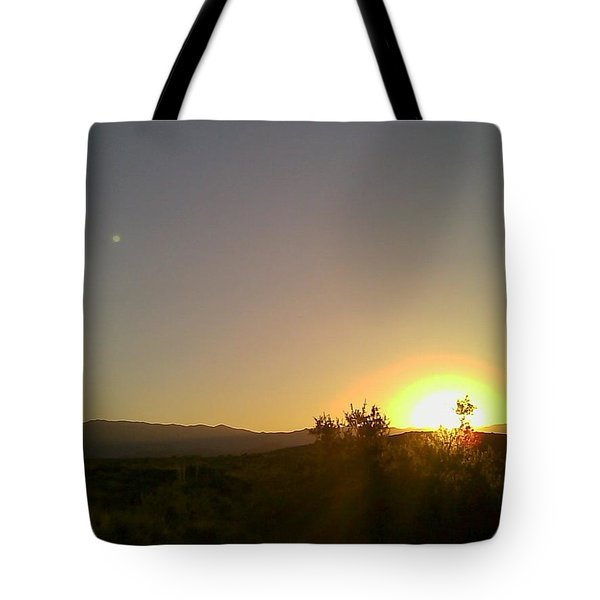 Tote Bag featuring the photograph Desert Sunset by Fred Wilson