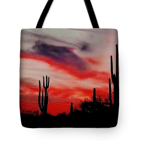 Desert Sunset Northern Lights Version 3 Tote Bag