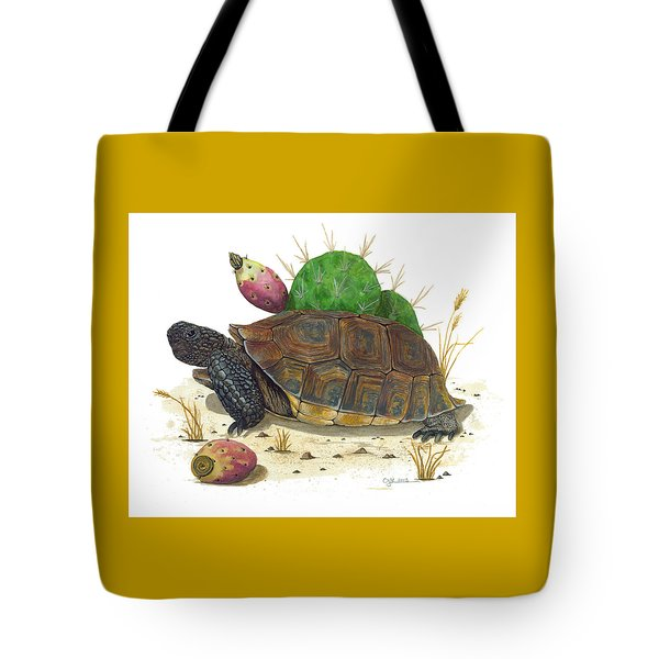 Desert Tortoise Tote Bag by Cindy Hitchcock