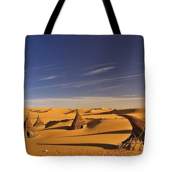 Desert Village Tote Bag