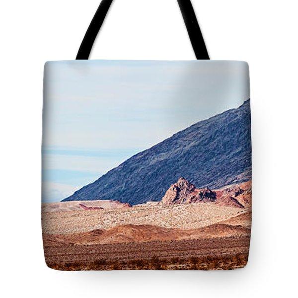 Desert With Mountain Range Tote Bag