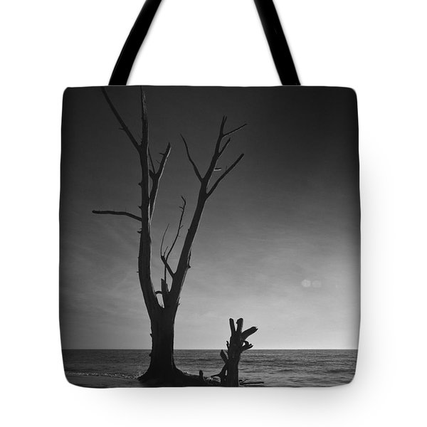 Deserted Beach Sunset Tote Bag