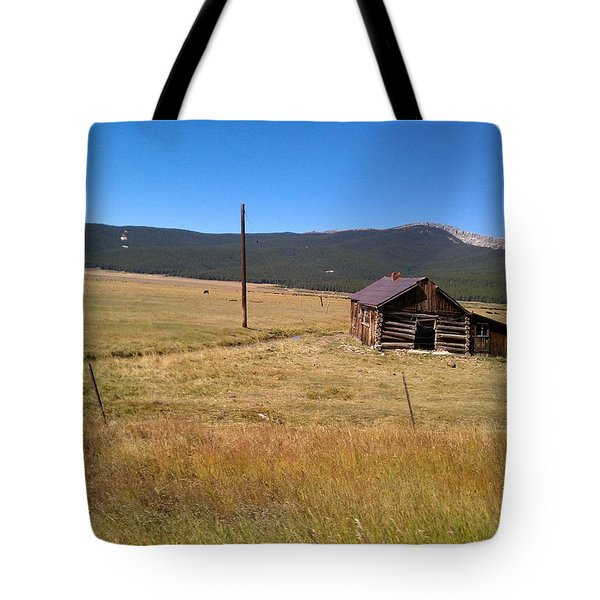 Tote Bag featuring the photograph Deserted Cabin by Fortunate Findings Shirley Dickerson
