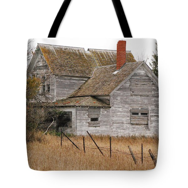 Tote Bag featuring the photograph Deserted House by Mary Carol Story