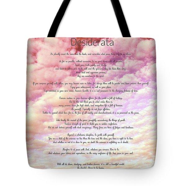 Desiderata - Cotton Candy Sky Tote Bag