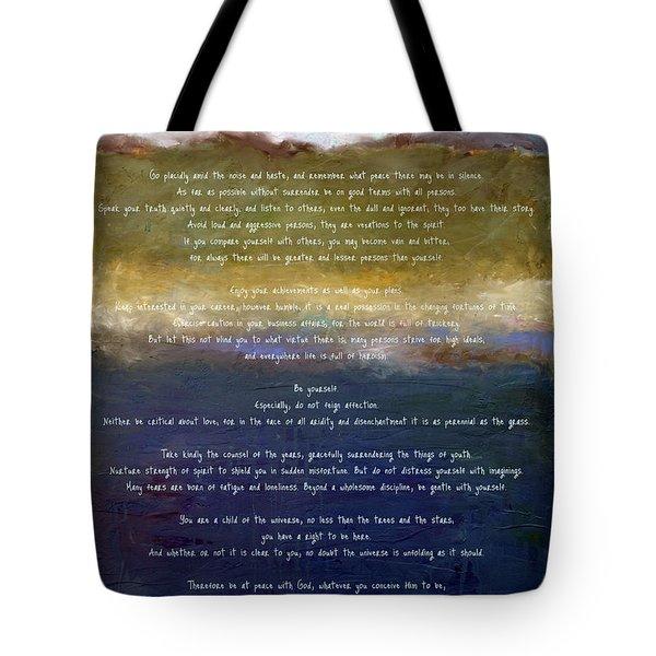 Desiderata Lll Tote Bag
