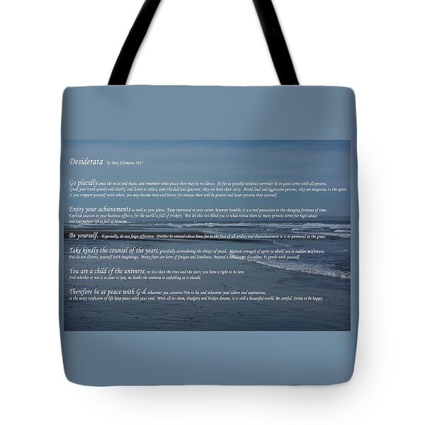 Desiderata  Tote Bag by Tikvah's Hope