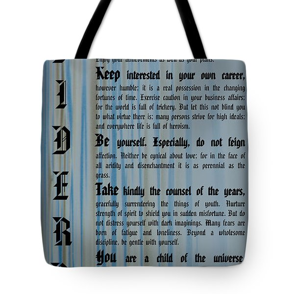 Desiderata 14 Tote Bag