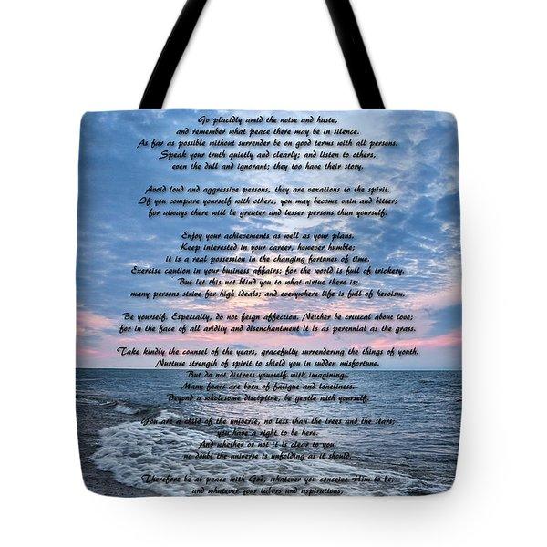 Desiderata Wisdom Tote Bag