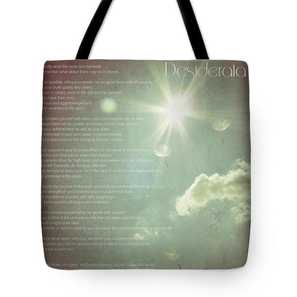 Desiderata Wishes Tote Bag