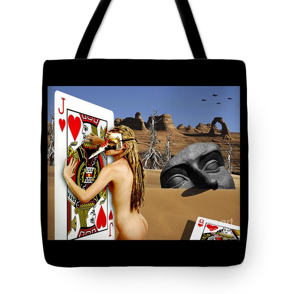 Desire And The Jack Of Hearts Tote Bag by Keith Dillon