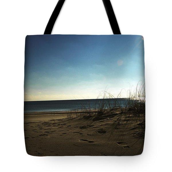 Destin Beach Sun Glare Tote Bag