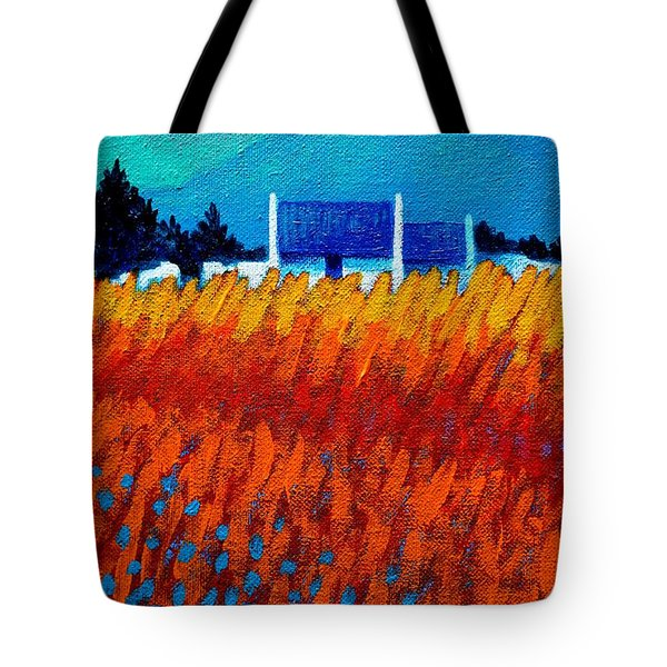 Detail From Golden Wheat Field Tote Bag by John  Nolan