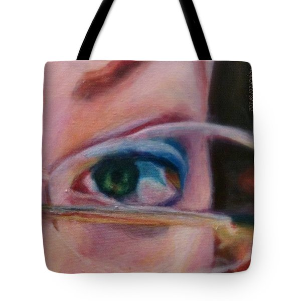 Detail From Portrait Of Chrissy An Acrylic Painting By Anna Porter Artist Tote Bag