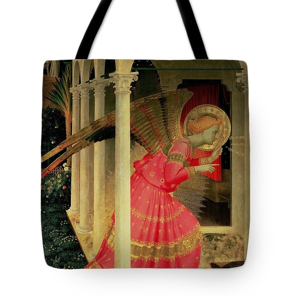 Detail From The Annunciation Showing The Angel Gabriel Tote Bag by Fra Angelico
