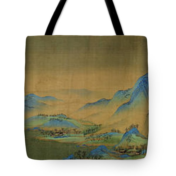 Tote Bag featuring the painting Detail Of A Thousand Li Of River by Celestial Images