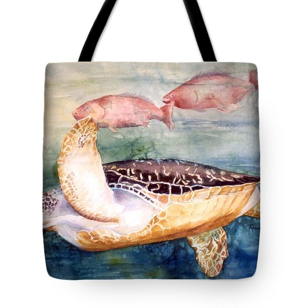 Determined - Loggerhead Sea Turtle Tote Bag