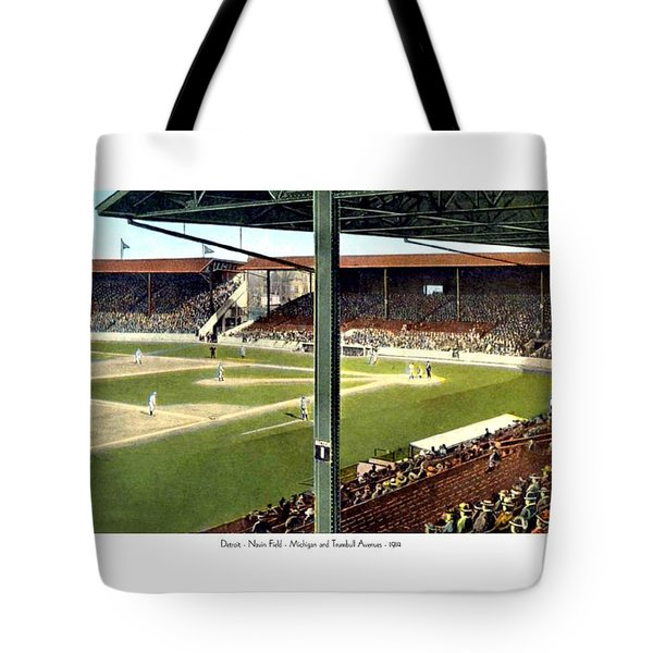 Detroit - Navin Field - Detroit Tigers - Michigan And Trumbull Avenues - 1914 Tote Bag