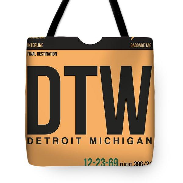 Detroit Airport Poster 1 Tote Bag