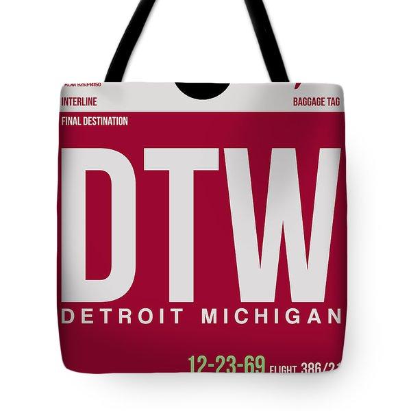 Detroit Airport Poster 2 Tote Bag