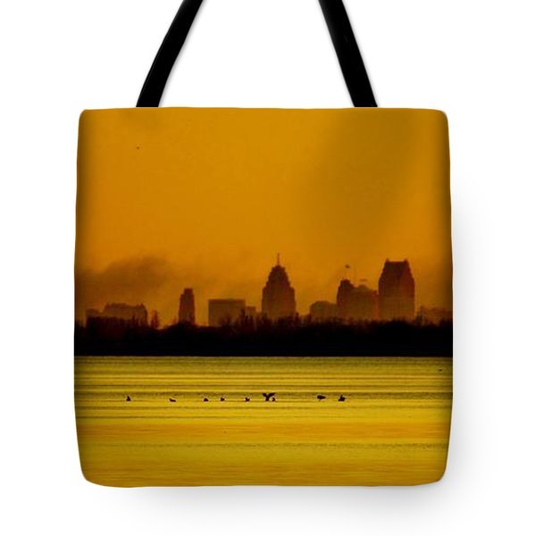 Detroit At Dawn Tote Bag