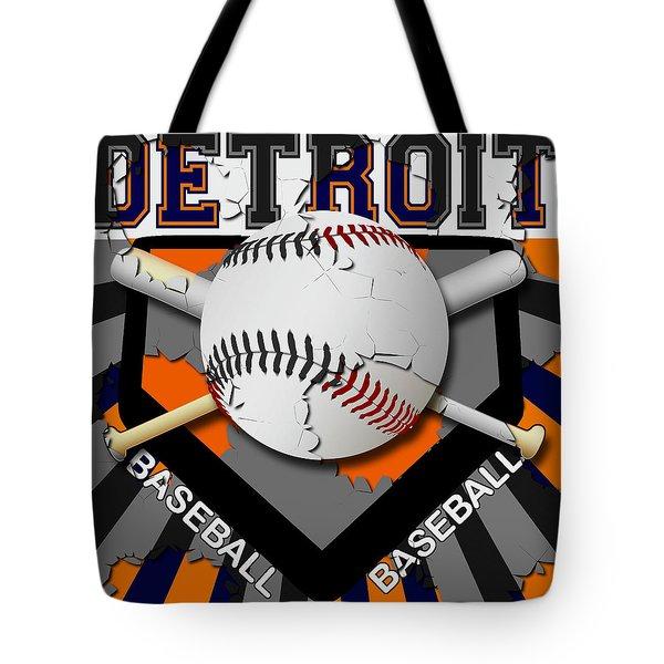 Detroit Baseball  Tote Bag by David G Paul