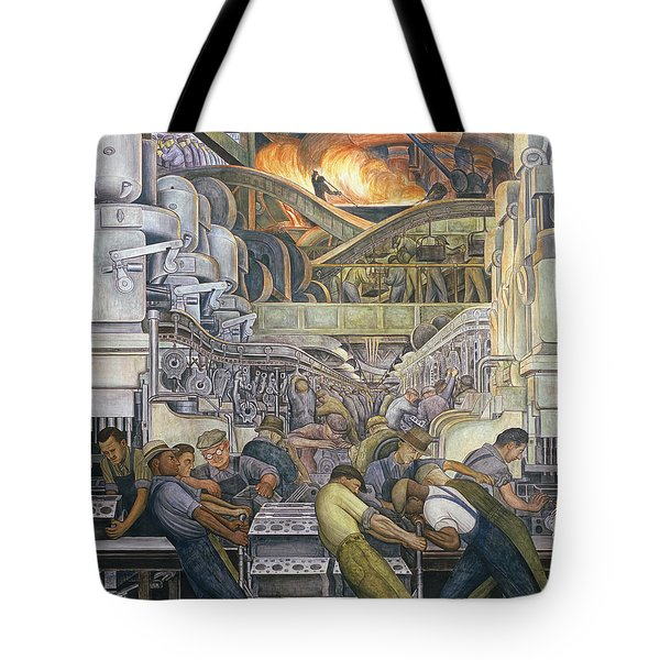 Detroit Industry  North Wall Tote Bag