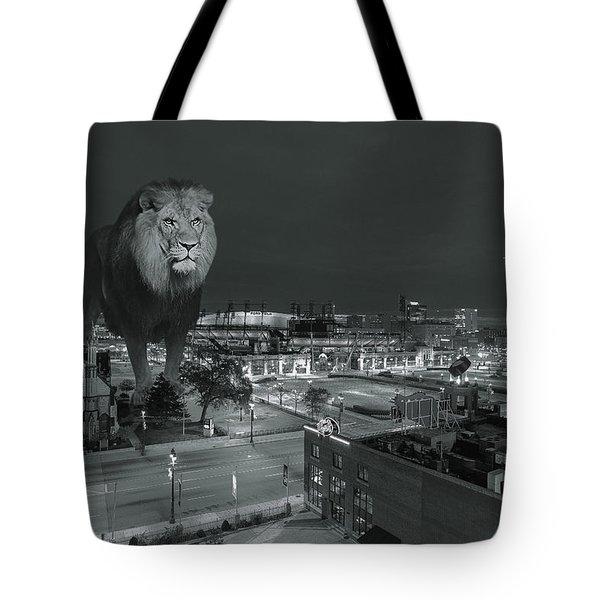 Detroit Lions Tote Bag by Nicholas  Grunas