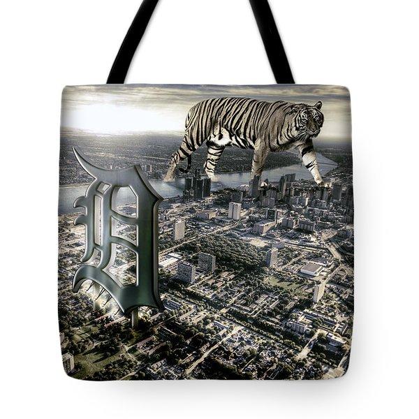 Detroit Tote Bag by Nicholas  Grunas