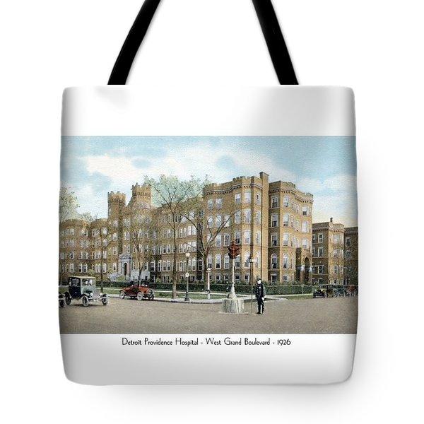 Detroit - Providence Hospital - West Grand Boulevard - 1926 Tote Bag