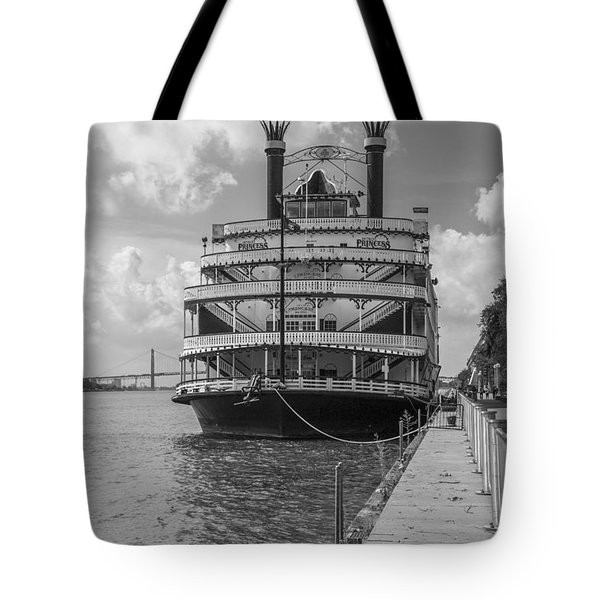 Detroit River Princess Black And White  Tote Bag