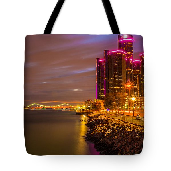 Detroit Riverwalk Tote Bag